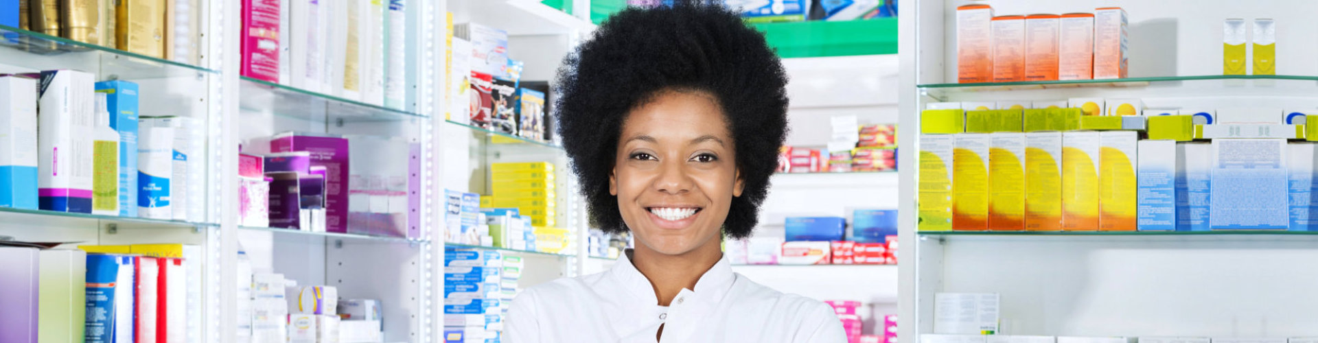 lady pharmacist smiling